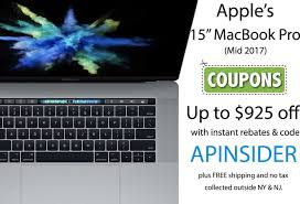 Apple MacBook Pro Blowout Sale: Save Up To $925 On Mid 2017 ... Promo Code Postmates Reddit Uber Promotion Thailand Mac App Store Promo Find Me Redbox Opal Nugget Ice Machine Discount John Hancock 360 Coupon Iphone Xr Discount Coupon Codes Free Xs How To Get Apple Max Korg Shop Trotterville Hror Haunted Attraction Coupons Free Shipping Carmel Nyc App Everything You Need Know Apptamin Macbook Pro Perfume Smart Shops Working Hours Fshdirect New Customer Laser Hair Removal Hawthorn Bestival Bali Heattransferwarehouse Promotional For Apple Pizza Hut Factoria