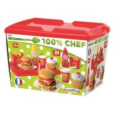 cuisine enfant ecoiffier ecoiffier chef set hamburger achat vente dinette cuisine