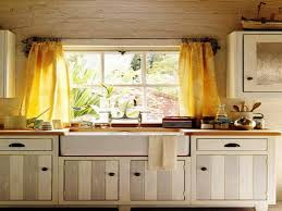 country kitchen curtains ideas grey metal chrome double bowl