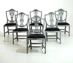 Set 6 Dining Chairs Of Pertaining To Dinning Room Furniture Grey Upholstered Plans Chair Covers