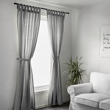 lenda 2 gardinen raffhalter grau 140x300 cm ikea schweiz