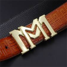 Luxury brand Waist Strap M buckle belt men ceinture fashion belts