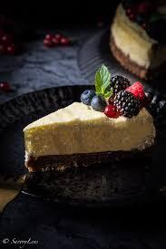 sommerbeeren ricotta cheesecake mit pekannüssen savorylens