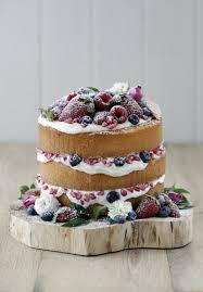 DIY Naked Wedding Cake Berries Inspiration
