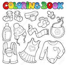 Coloring Book Baby Clothes