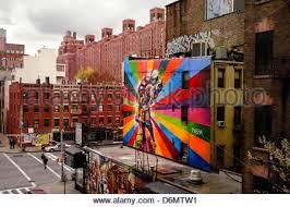 street art graffiti painting the kiss by dmitri vrubel at famous