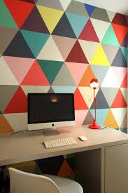 bureau coloré bureau avec papier peint coloré