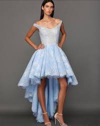 online get cheap light blue short in front long in back prom dress