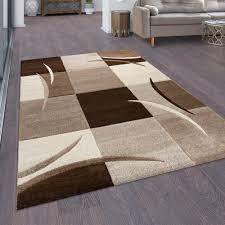 teppich aliana in schokoladenbraun braun creme zipcode design rug size rechteckig 300 x 400 cm