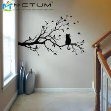 Wall Decor Living Room Buy Modern Cat Tree Branch Sticker Decals Birds Animal Poster Vinyl