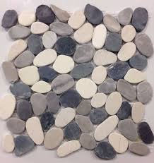 Sliced Pebble Tiles Uk by Valencia Cool Blend Pebble Tile 12x12