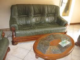 canapé cuir et bois rustique salon en bois massif cuire idées décoration intérieure farik us
