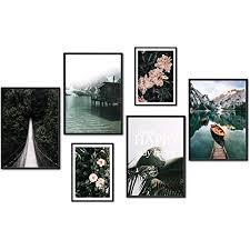 myestado premium poster set bilder wohnzimmer modern schlafzimmer bild für ihre wand ohne bilderrahmen 4 x din a3 2 x din a4 ca 30x42