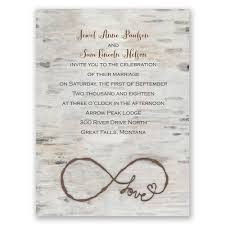 Rustic Wedding Invitations Love For Infinity Petite Invitation Grey Old Graphic Background With Simple Fonts S