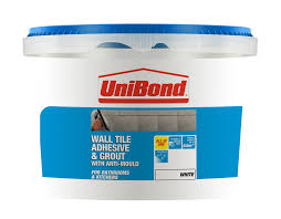 Blue Hawk Premixed Vinyl Tile Grout Directions by Unibond Ready To Use Wall Tile Adhesive U0026 Grout White 1 38kg