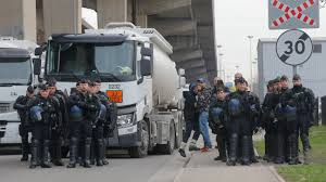 100 Bt Express Trucking France Bracing For More Protests Despite Retreat On Taxes BT