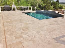 tile travertine tile pool deck home design great simple