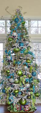 Christmas Tree Blue Lime Green