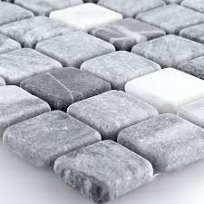 mosaikfliesen marmor schwarz grau 23x23x7mm