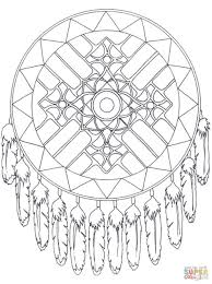 Native American Mandala Bows And Arrows Coloring Page Click The Pages Instrument Sheet Adult