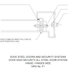 Steel Door Hinge Dwg