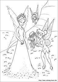 Enchanting Tinkerbell Coloring Pages 12