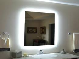 wall mounted lighted makeup mirrors bathroom the home depot in