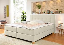 home affaire boxspringbett h3 landhaus stil beige material buche federn polyester kaltschaum arlon