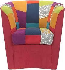 büro schlafzimmer sessel aus handgenähtem bordeaux patchwork stoff