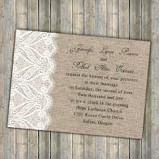 Printable Rustic Burlap And Lace Wedding Invitations EWI246