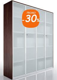 armoire bureau armoire bibliothèque de bureau vitrée design gamme longitude