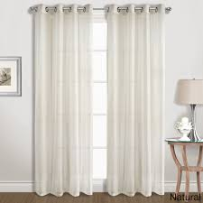 Blue Crushed Voile Curtains by Voile Sheer Door Panel
