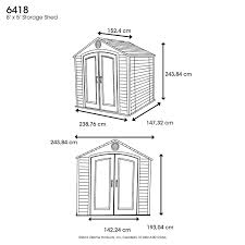 Rubbermaid Gable Storage Shed 5 X 2 by Amazon Com Lifetime 6418 Outdoor Storage Shed 8 By 5 Feet
