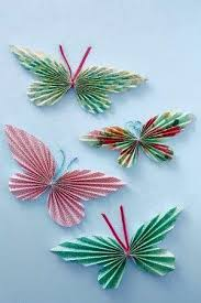 Learn To Fold Butterflies Use Colorful Paper From Magazines You Will Need Pretty Pencil Ribbon Or Bakers Twine Cardboard