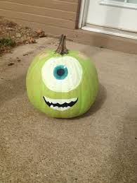 Easy Mike Wazowski Pumpkin Carving Template by My Mike Wazowski Pumpkin Pumpkin Decorating Pinterest Mike