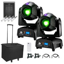 American Dj Focus Spot Two High Powered Led Moving Heads With