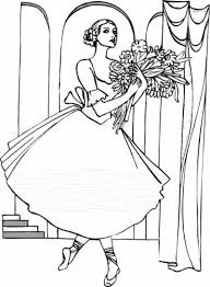 A Gorgeous Ballerina Coloring Page To Print Online