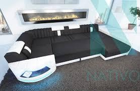 design canapé canapé atlantis xl ac éclairage led nativo mobilier design