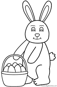 Easter Bunny Holding Basket Of Eggs