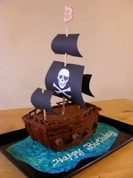 I made this Pirate ship birthday cake for my youngest s 3rd birthday