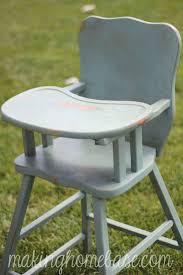 Light Wood Eddie Bauer High Chair by Wooden High Chair With Annie Sloan Chalk Paint Wooden High
