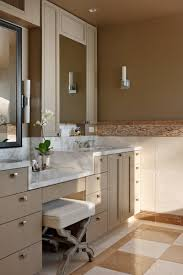 Master Bathroom Vanity With Makeup Area by Bathroom Sleek Makeup Area Room Design With Light Black Gold