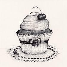 Drawn cake pencil sketch 1