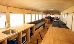 The Inside Of Hanks Transformed School Bus