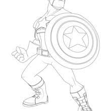 Thor Captain America Coloring Page