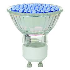 blue led mr16 gu10 light bulb 2 8w 38皸 460nm l