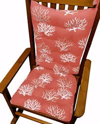 100 Final Sale Rocking Chair Cushions Coastal Coral Salmon Latex Foam Fill Made