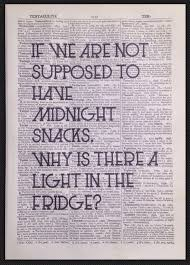 Quirky Funny Kitchen Quote Print Vintage Dictionary Wall Art Food Diet Cafe