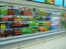 Air Cooling Supermarket Open Door Display Showcase For Beverage Milkfruitvegetable