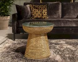 dutchbone gauri beistelltisch gold